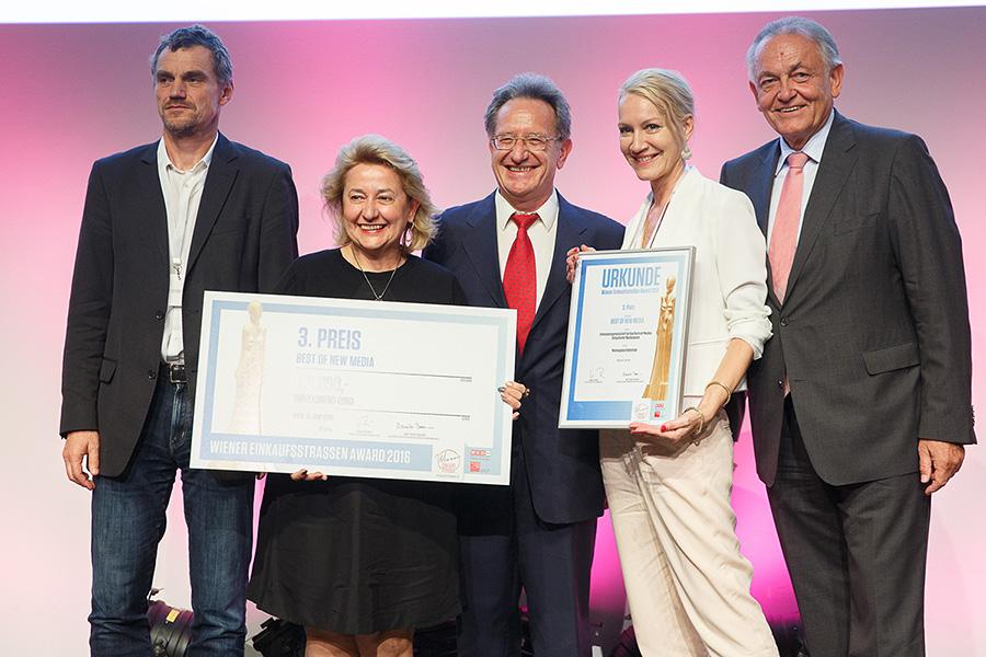 Verleihung 2016 der Wiener Einkaufsstraßen Awards