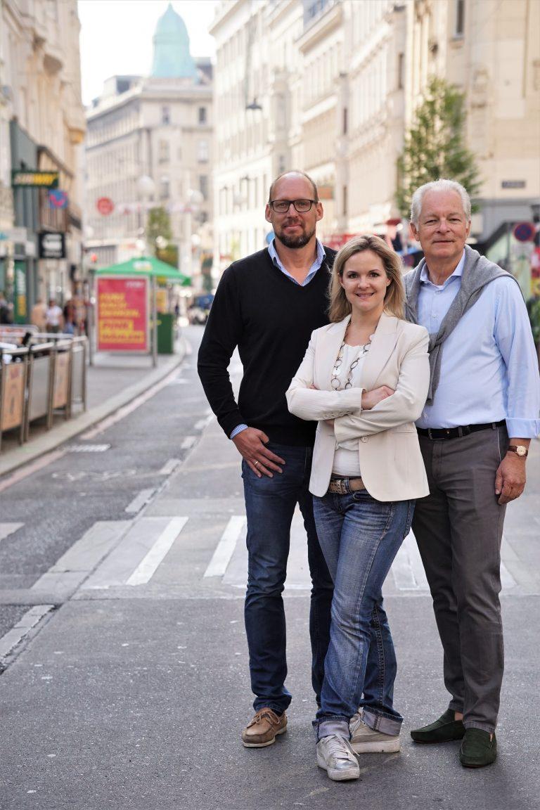 Vorstandsmitglieder der IG Kaufleute am Neubau - Neubaugasse