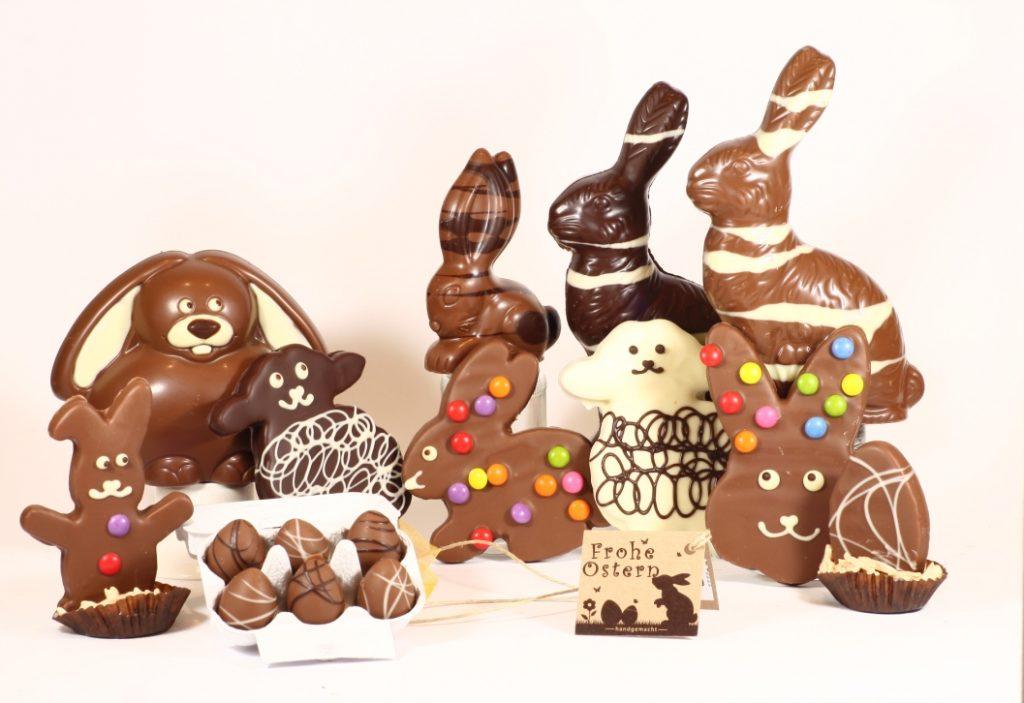 Zu Ostern dürfen leckere Schokohasen nicht fehlen. In Wien in der Neubaugasse gibt es Osterhasen auch laktosefrei oder vegan.