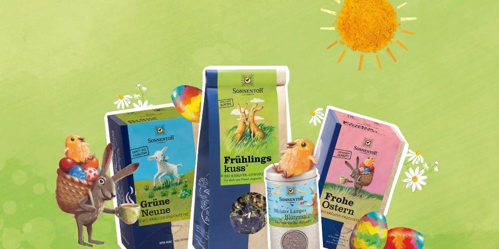 Die Sonnentor Tees und Gewürze zum Frühlingsanfang sind ein echter Genuss.