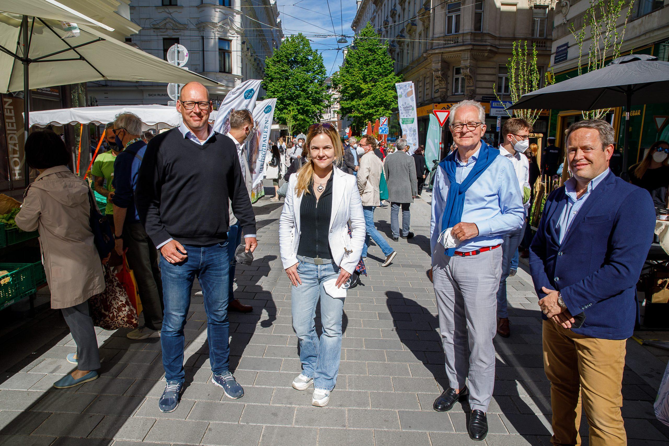 Kurt Wilhelm, Kristina Purzner & Peter Herzog – IG der Kaufleute am Neubau – ©Florian Wieser