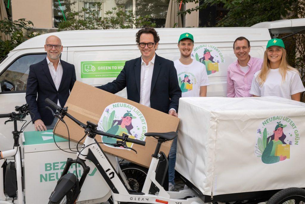 Mit den Multifunktionsrädern des österreichischen Technologieunternehmens Gleam werden Pakete in Zukunft grün ausgeliefert.